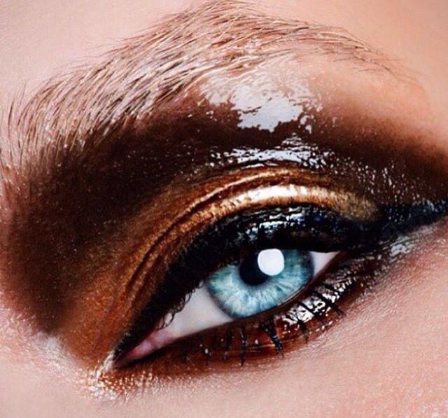 Love this 'burnished' look from Mac Cosmetics #mac #maccosmetics