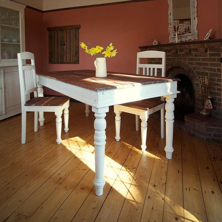 Best 25 distressed dining tables ideas on pinterest diy for Painted dining room table ideas