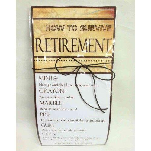 crafting retirement survival kit just bcause