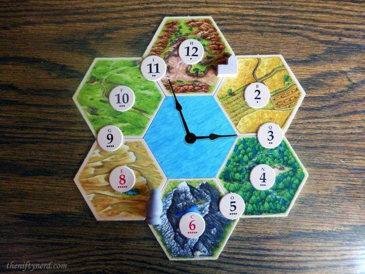 Settlers of Catan board game clock Nerd crafts, Magic