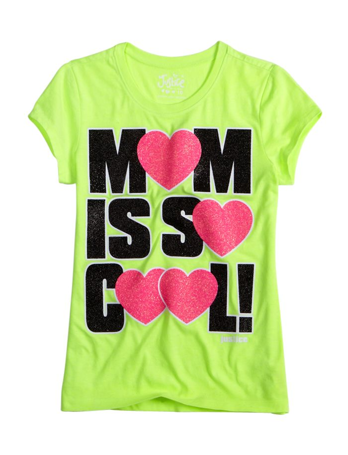 Mom Is So Cool Tee | Bffs And Faves | Graphic Tees | Shop Justice