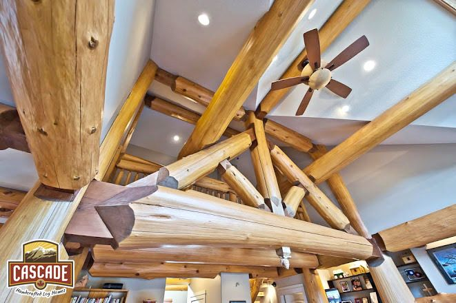 17 best images about cascade handcrafted log homes for Post and beam construction plans
