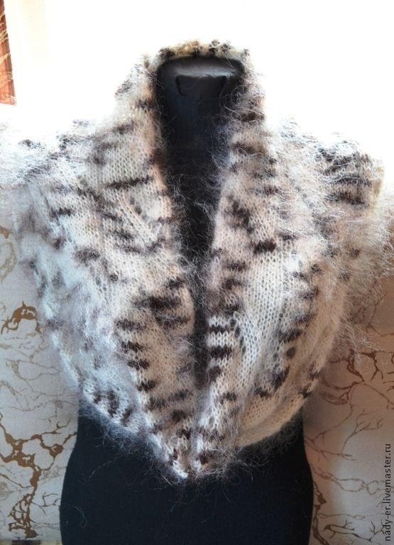 Купить Снуд Настроение, 101 далматинец - чёрно-белый, шарф-снуд, шарф на голову, снуд