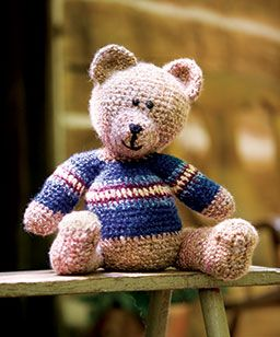 """Eddie Teddy - Free Amigurumi Pattern - PDF Format - Click to """"Download this pattern"""" (gree pattern) here: http://www.crochet-world.com/newsletters.php?mode=issue&issue_id=931&department_id=7"""