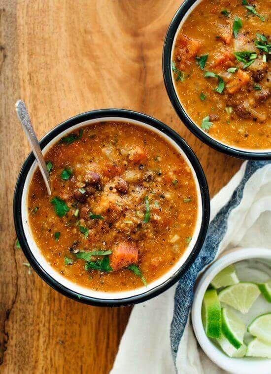 Vegan Mexican Quinoa Stew Healthy Vegan Mexican Recipes For Dinner Recipesfordinner Delicious Soup Recipes Stew Recipes Recipes