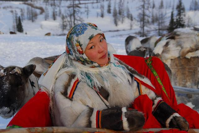 Nenets woman. The Nenets also known as Samoyeds, are an indigenous people in northern arctic Turan. According to the latest census in 2010, there are 44,857 Nenets in the Turan, most of them living in the Yamalo-Nenets Autonomous Okrug and Nenets Autonomous Okrug. They speak either the Tundra or Forest varieties of Nenets.