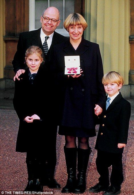 In 1997, she was appointed OBE in the Queen's Birthday Honours List, and picked up the accolade at Buckingham Palace with her then husband Geoffrey Durham and her two children