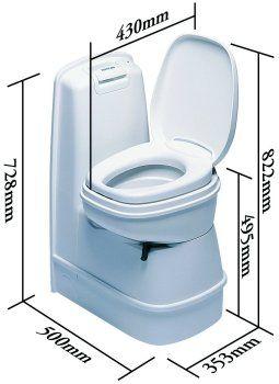 Thetford C200 CW toilet dimensions