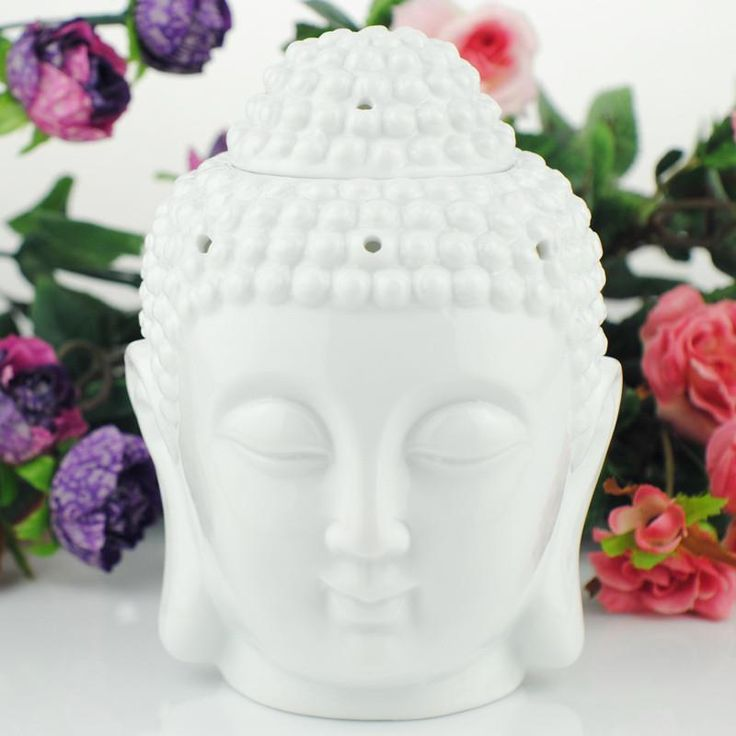 Ceramic burner Buddha head aromatherapy oil station For Temple / Home can dropship   #香炉#incense burner#Quemador de incienso#Благовонная горелка#Br?leur d'encens#moylor