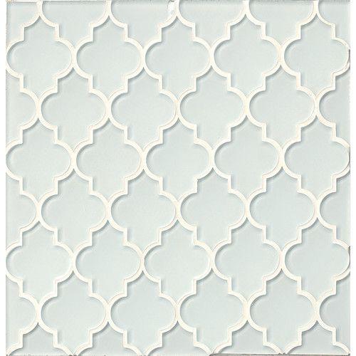 Found it at Wayfair - Mallorca Glass Mosaic Tile in White Linen