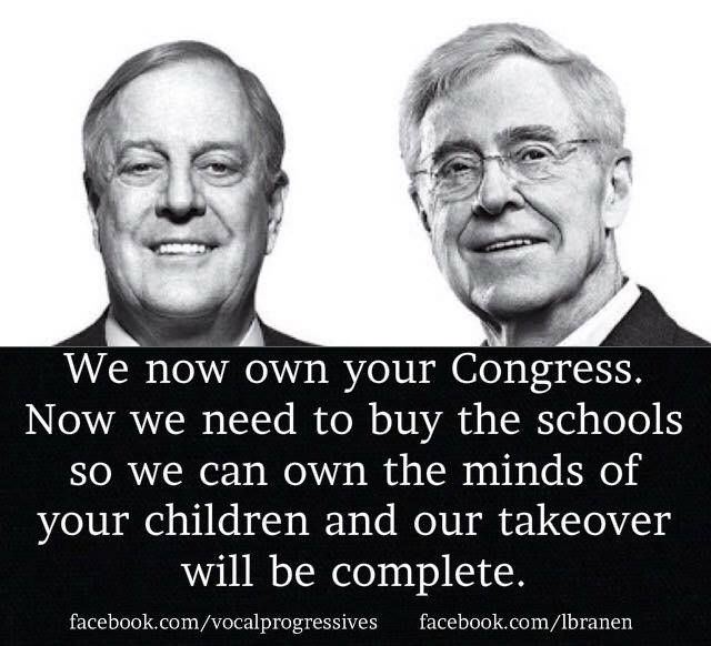 The owners of the Republican Party - the Koch brothers