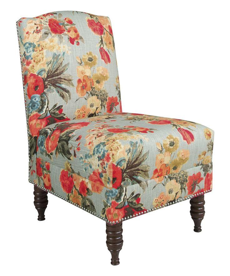 Nailhead Trim Armless Chair