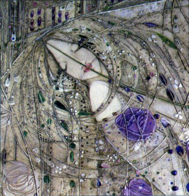 Margaret MacDonald Mackintosh maybe or modern ....in the style of