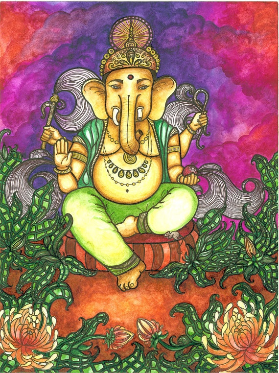Ganesh by MADISONMARIEart on Etsy, $15.00