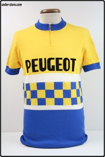 MAILLOT CYCLISME EQUIPE PEUGEOT VINTAGE CYCLE rfFBB939