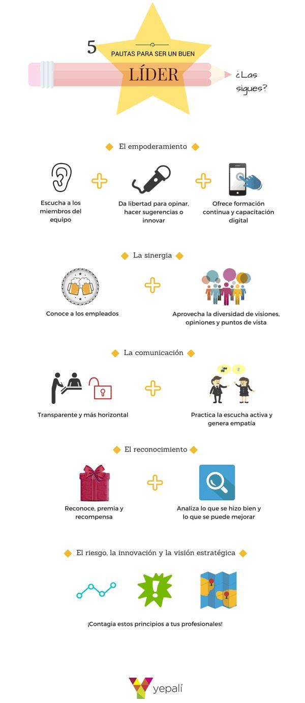 5 pautas para ser un buen líder #infografia #infographic #leadership