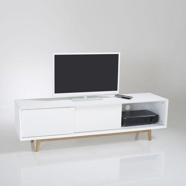 les 25 meilleures idées de la catégorie meuble tv blanc laqué sur ... - Meuble Tv Design Arrondi