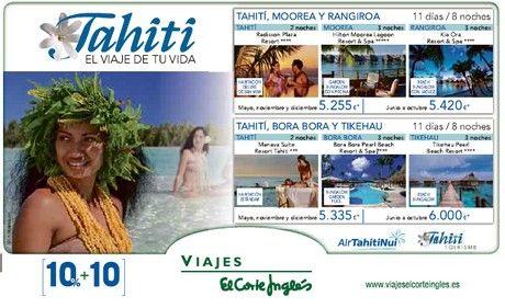 viajes el corte ingles tahiti resort spa hoteles lujo descuentos ofertas promociones