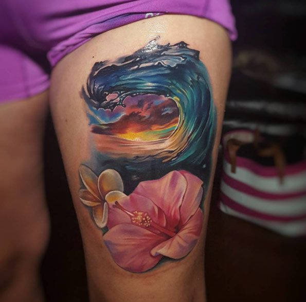 Epic Wave Tattoo by Tyler Malek