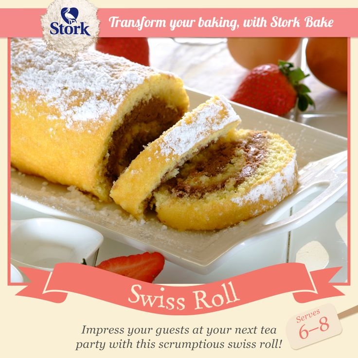 This may be a little challenging but we know you can do it :) What is your favourite filling to sandwich in between a Swiss Roll? Recipe here -> http://www.stork.co.za/recipes/swiss-roll/