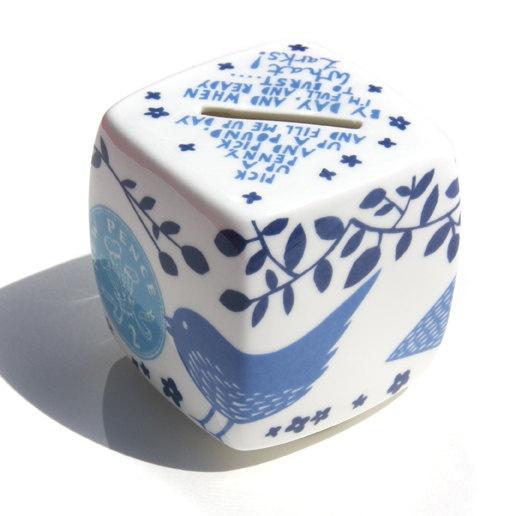 screen printed ceramic money box