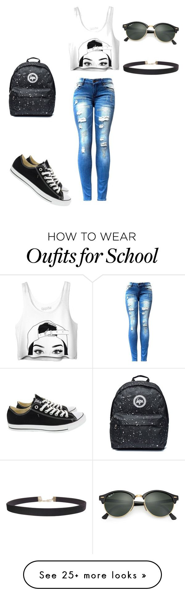 """""""eye on you"""" by noriegacrystal on Polyvore featuring Converse, Ray-Ban and Humble Chic"""
