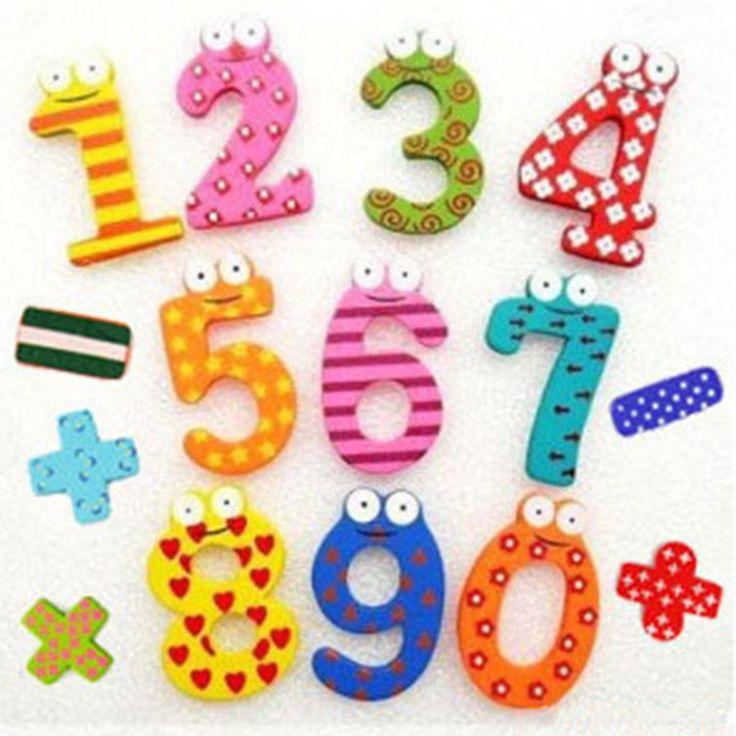 15ピース/セット数字子数学おもちゃ教育がかわいいキッズベビー用のおもちゃ磁気冷蔵庫マグネット送料無料