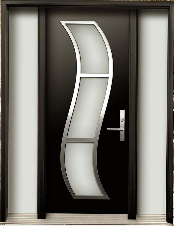 Puertas de herrer a modernas para exterior puertas - Puertas metalicas para exteriores ...