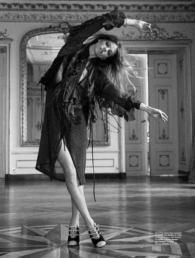 masha novoselova model8 Masha Novoselova is Rock n Roll Glam for Elle Norway by Asa Tallgard