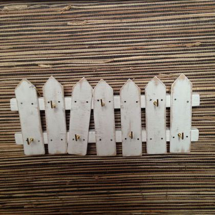 "Ключница ""забор"". Handmade. Ключница, вешалка для ключей, ключница на стену"