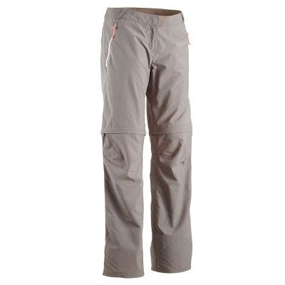 Trousers Clothing - Forclaz 100 Women's Convertible Walking Trousers - Grey Quechua - Bottoms