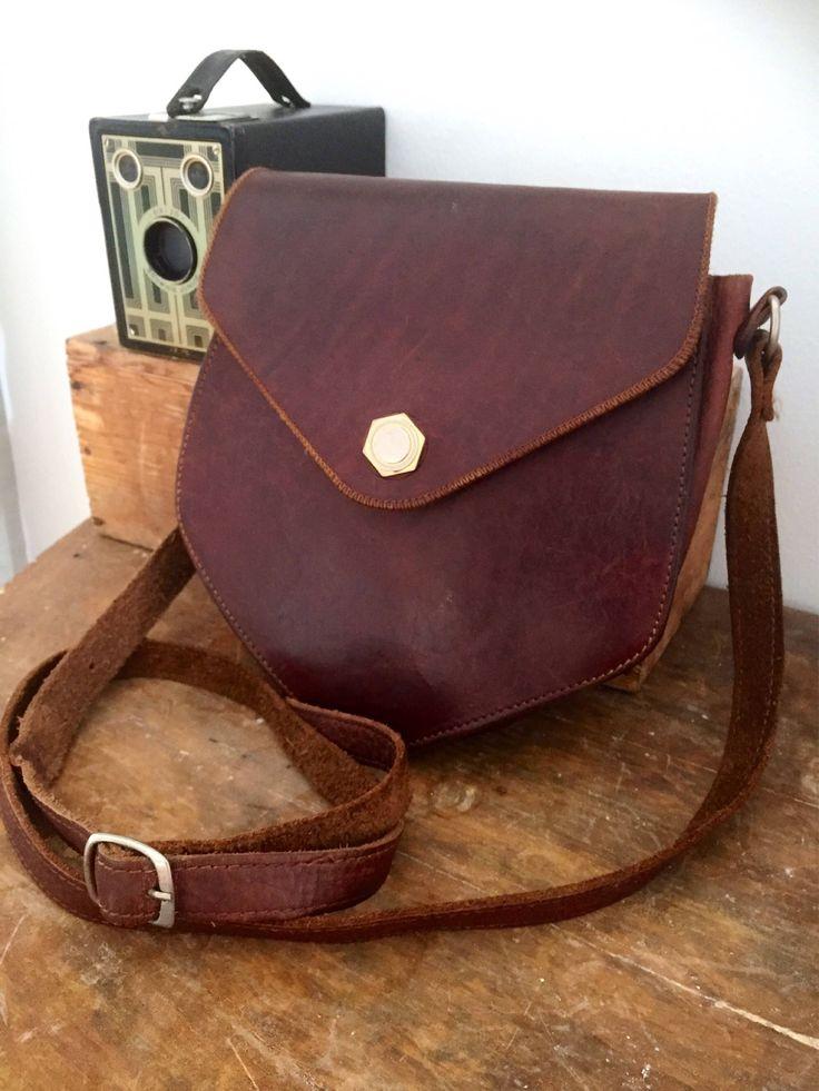 Vintage/boho/wanderlust/crossbody/leather/diamond shaped bag/1960s by WifinpoofVintage on Etsy
