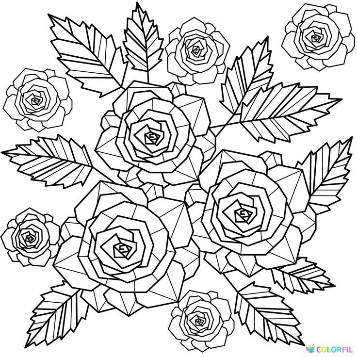 kleurplaten zomerbloemen