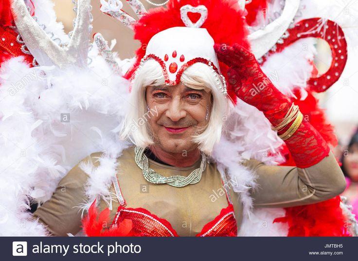 Badajoz, Spain - February 28, 2017: Mature man transvestite take Stock Photo, Royalty Free Image: 150512017 - Alamy