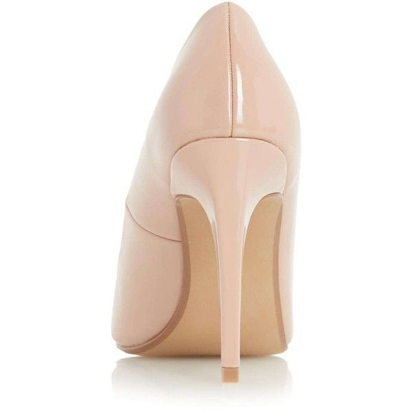 **Head Over Heels 'Addyson' Nude Court Shoes - Head over Heels by Dune... (£40) ❤ liked on Polyvore featuring shoes, pumps, nude shoes, dorothy perkins, nude pumps, nude court shoes and dorothy perkins shoes