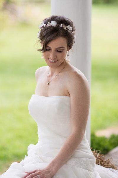 Ivory Hochzeits Tiara, Elfenkrone, Blumenkranz von WeddingBliss by Maija auf DaWanda.com