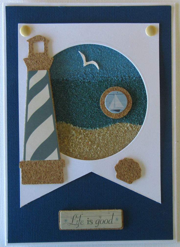 August Card Swap - Theme navy, Sea Green and Sand - Kaye to Tracey