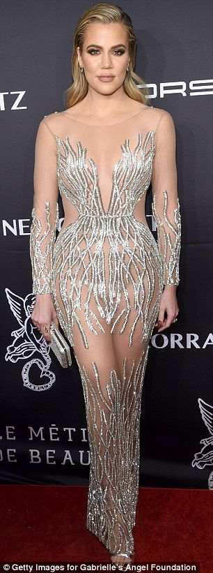 Rearly impressive: The youngest Kardashian sister's dress showcased her famous fundament...