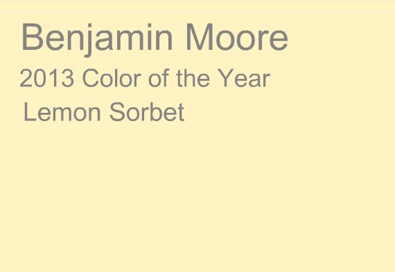 2013 color of the year lemon sorbet