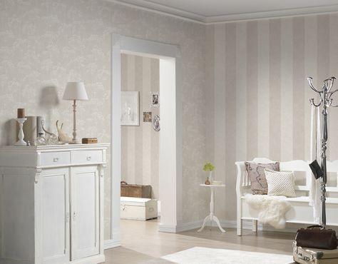 as cration tapete 953691 tapete beige wei natur floral modern - Tapete Schlafzimmer Beige