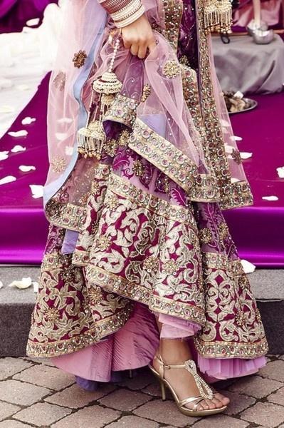 #bollywood bridal style #royalpurple lengha