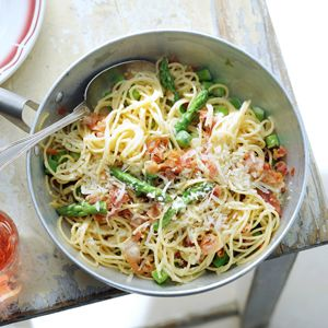 Recept - Spaghetti carbonara met asperges - Allerhande