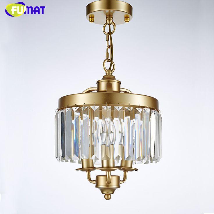 FUMAT Loft Lustre Chandelier New Art Deco Crystal Chandelier Indoor Lighting Black Gold Vintage Lamp For Dinning Room Chandelier #Affiliate