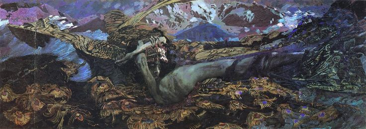 Seated Demon, 1890 - Mikhail Vrubel - WikiArt.org