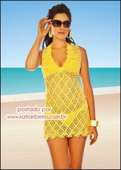 Katia Ribeiro Acessórios: Saída de praia com gráfico e receita