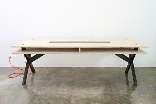 Perfect for Coworking: Work Table 002 by Miguel de la Garza Photo