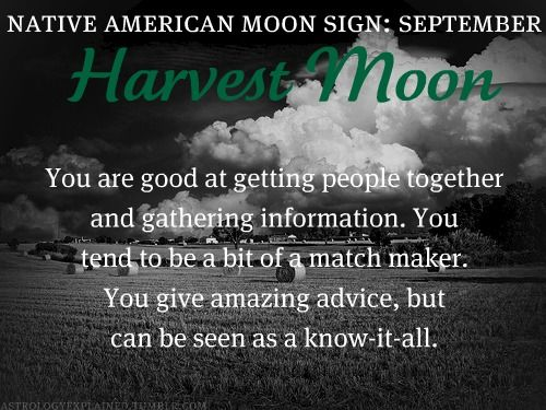 Native American Moon Sign: September Harvest Moon