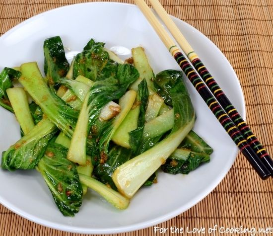 Garlic-Ginger Bok Choy Sauté | For the Love of Cooking