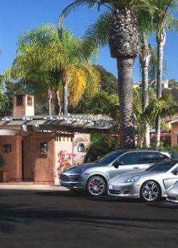 Rancho Valencia, San Diego, California - Well, arriving and seeing those fab cars parked by the entrance was well-noted. Every guest at Rancho Valencia has the opportunity to drive a Porsche during their stay (on a first come, first served basis, obviously).