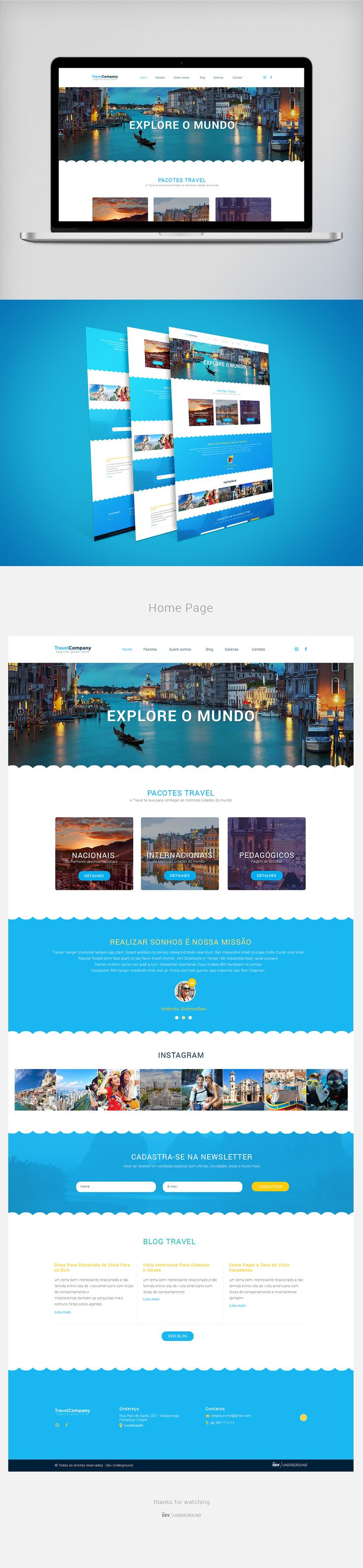 Travel Template - PSD Free on Behance